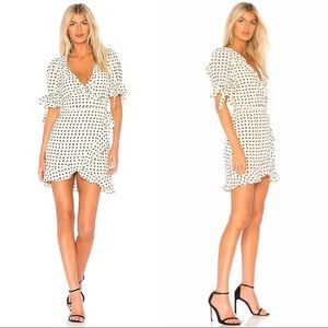 For Love & Lemons Sweetheart Wrap Heart Dress